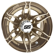 Golf Cart Wheel, 10x7 Bronze RX376