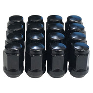 Golf Cart Lug Nuts, Set of 16 Flat Black, Standard or Metric