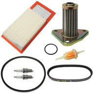 Golf Cart Deluxe Engine Maintenance Tune Up Kit, EZGO 4-Cycle 1994-2005 (With Oil Filter)