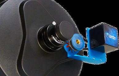 Pegasus Astro SCT Stepper Motor installed on your SCT's original focusing shaft. DMFC Premium (for SCT) includes DMFC controller and SCT Motor Focus Kit