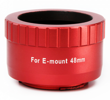 William Optics 48mm T-mount for Sony E-mount (Red)