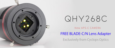 QHY268C with FREE Cyclops Optics BLADE-C/N Camera Lens Adapter