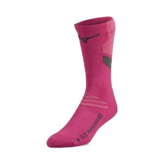 Mizuno Runbird Crew Sock - Shocking Pink
