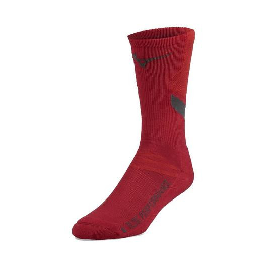Mizuno Runbird Crew Sock - Red
