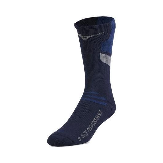 Mizuno Runbird Crew Sock - Navy