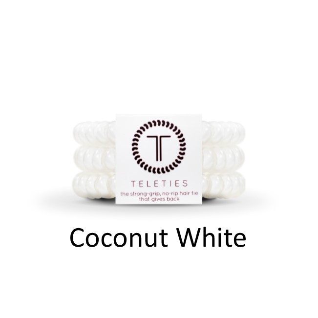 Teleties-Small- Coconut White