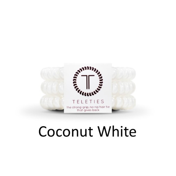 Teleties-Large- Coconut White