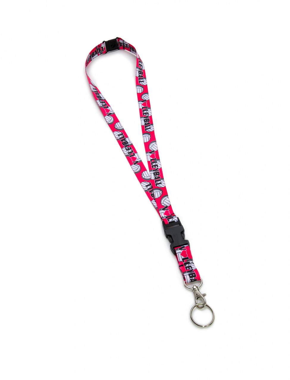 Detachable Volleyball Lanyard-Pink