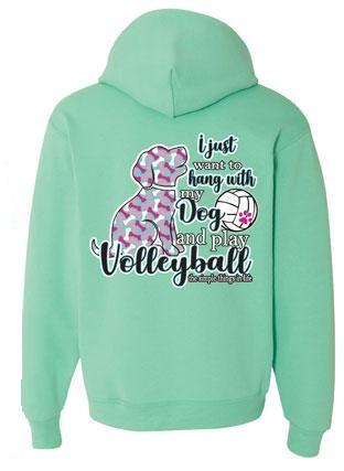 Dog Hooded Sweatshirt- Cool Mint