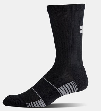 UA Team Crew Sock- Black