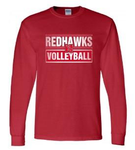 Redhawks Gildan LS-Red