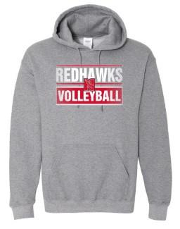 Redhawks Gildan Hoodie-Grey