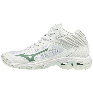 Mizuno Women's Wave Lightning Z5- MID- White