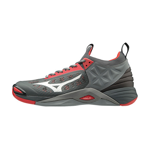 Mizuno Men's Wave Momentum- High Risk Red/Grey
