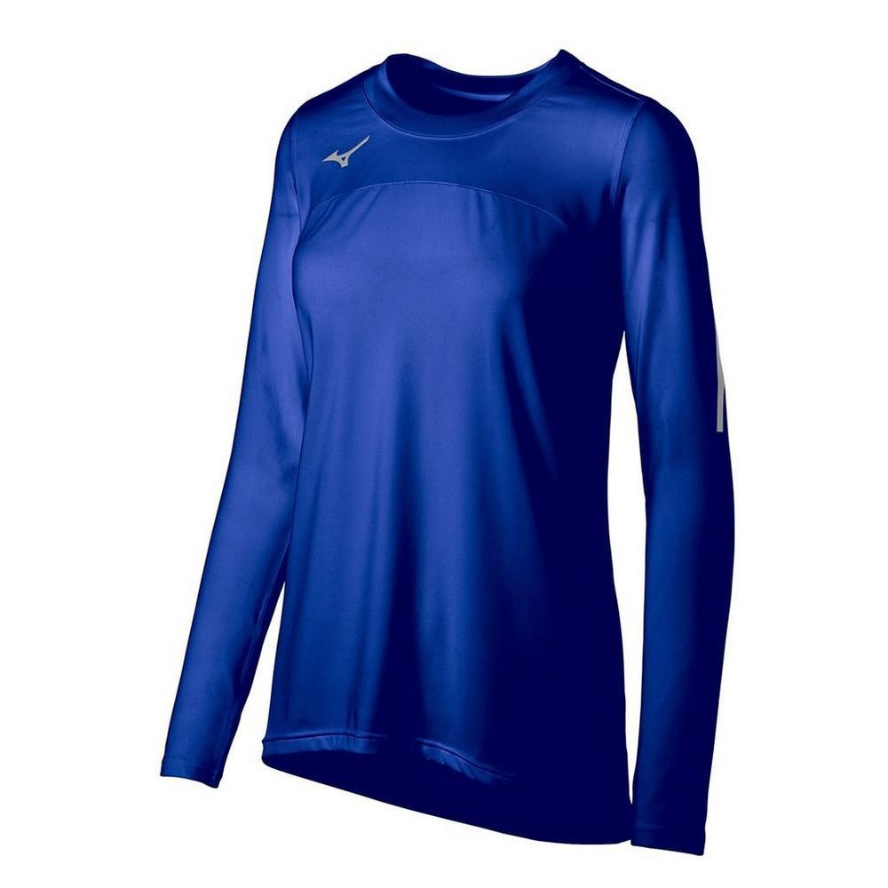 Mizuno Women's Techno Volley VII Long Sleeve Jersey- Royal