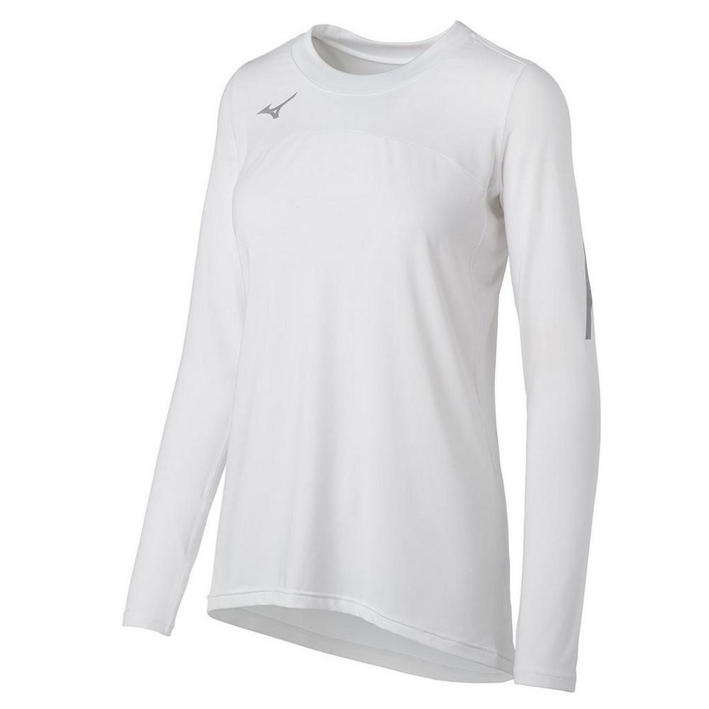 Mizuno Women's Techno Volley VII Long Sleeve Jersey- White