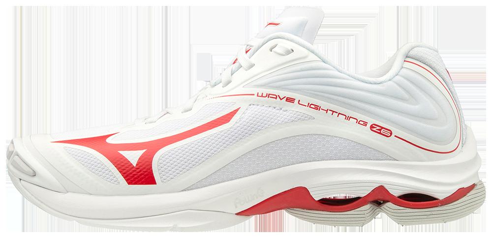 Mizuno Women's Wave Lightning Z6- White/Red