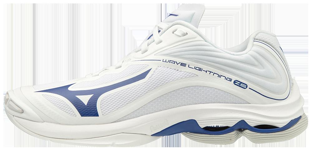 Mizuno Women's Wave Lightning Z6- White/Navy