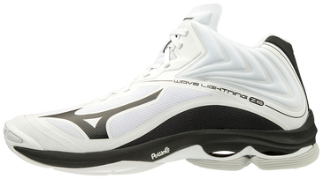 Mizuno Men's Wave Lightning Z6- MID- White/Black