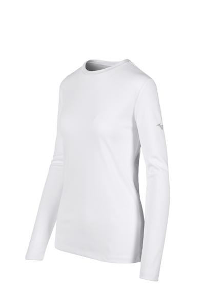Women's Mizuno LS Tee- White