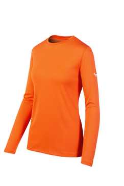 Women's Mizuno LS Tee- Orange