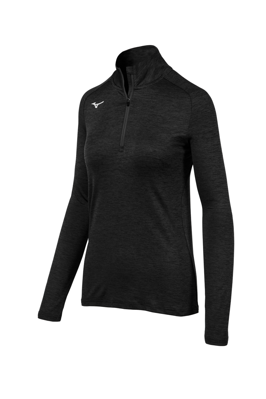 Mizuno Women's Alpha 1/2 Zip- Black