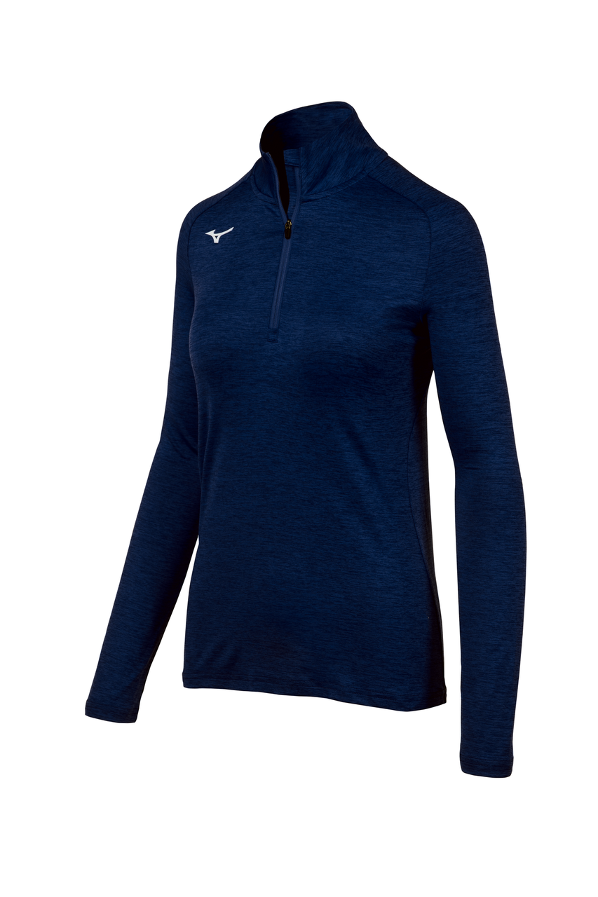 Mizuno Women's Alpha 1/2 Zip- Navy