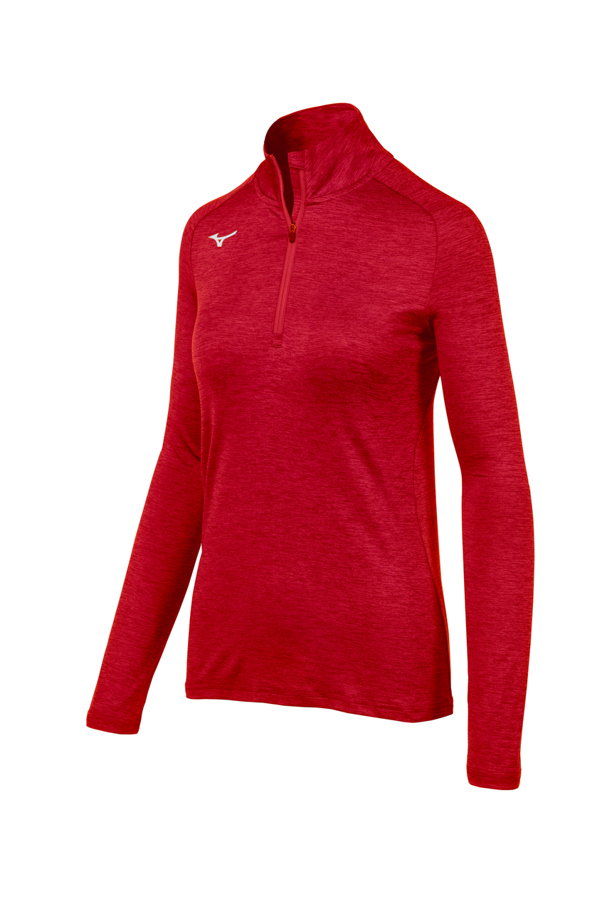 Mizuno Women's Alpha 1/2 Zip- Red