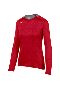 Mizuno Women's Alpha Long Sleeve- Red