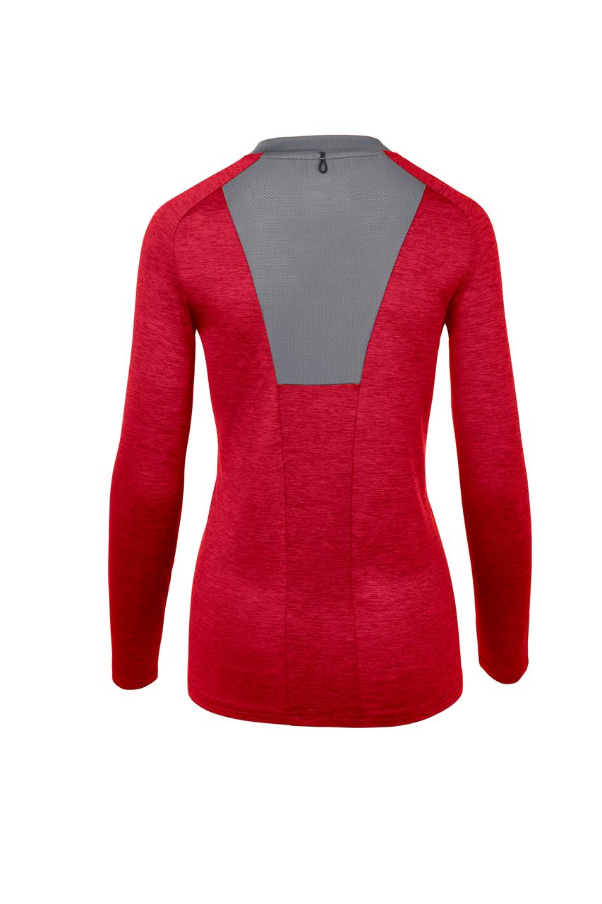 Mizuno Women's Alpha Long Sleeve- Red Back