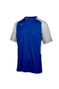 Mizuno Men's Aerolite Crew Jersey- Royal/Grey