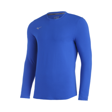 Mizuno Men's Comp LS Crew- Royal