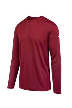 Mizuno Men's Long Sleeve Mizuno Tee- Cardinal
