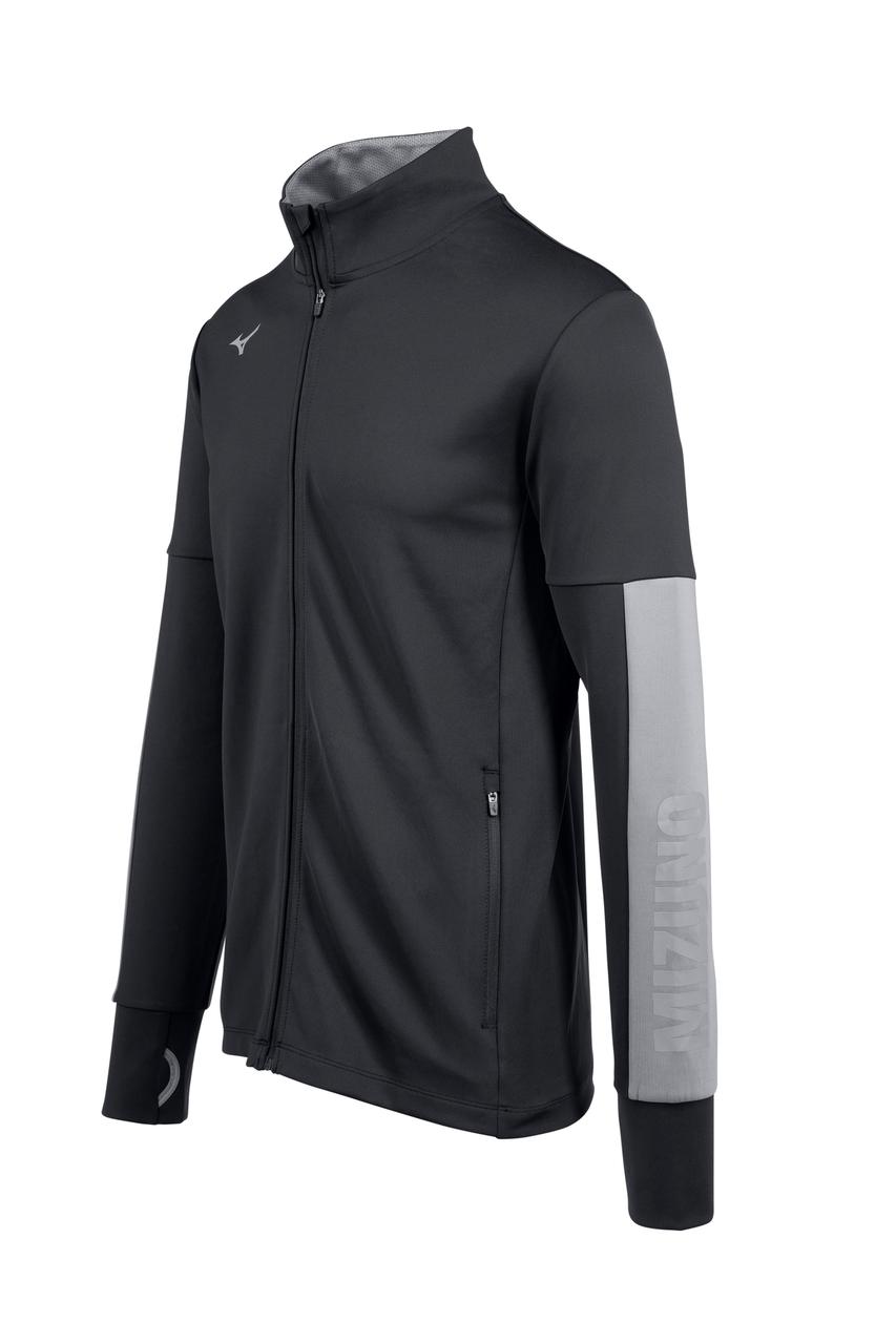 Mizuno Men's Alpha Quest Jacket- Black Front