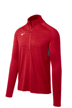 Mizuno Men's Alpha 1/2 Zip- Red Front