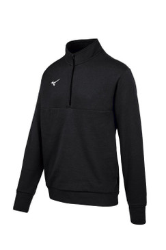 Mizuno  MZ1 1/4 Zip Fleece Pullover- Black