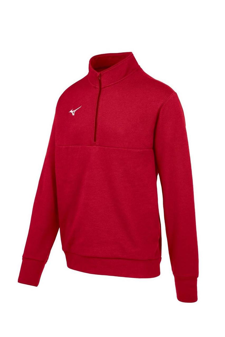 Mizuno  MZ1 1/4 Zip Fleece Pullover- Red