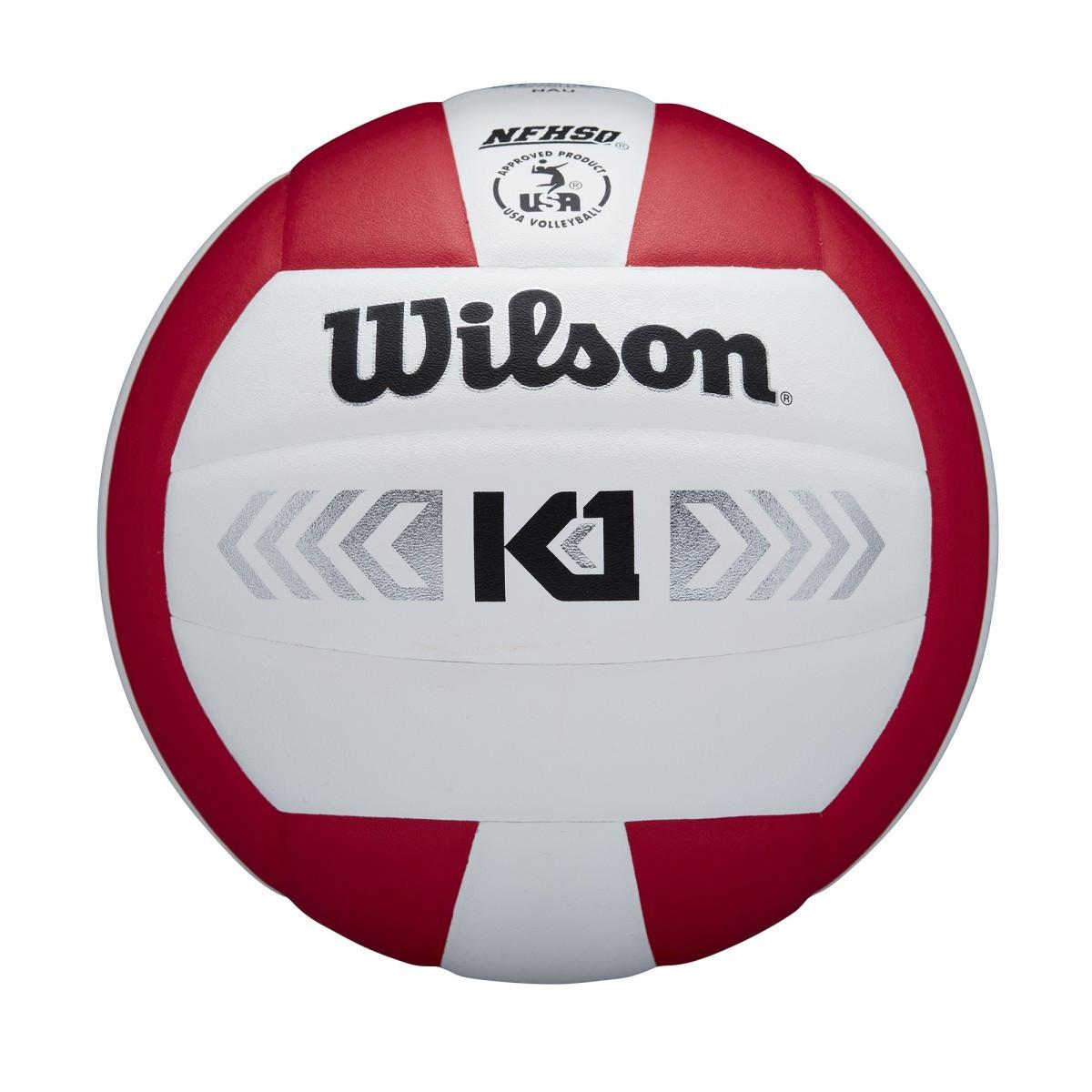 Wilson K1 Silver- Scarlet/White