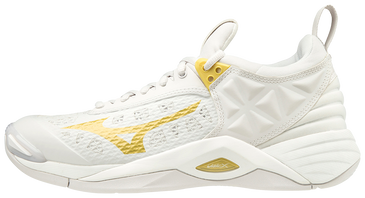 Mizuno Women's Wave Momentum- White/Gold