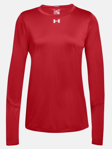 UA Women's LS Locker T-Red