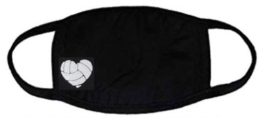 Volleyball Heart Face Mask