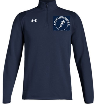 UA SPVB Men's Hustle Fleece- Navy
