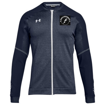 UA SPVB Men's Qualifier Hybrid Full Zip- Navy