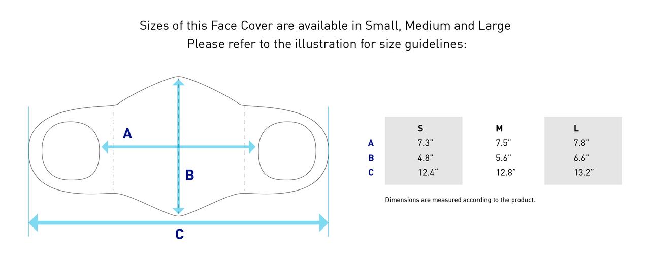 Mizuno Face Cover- Sizes
