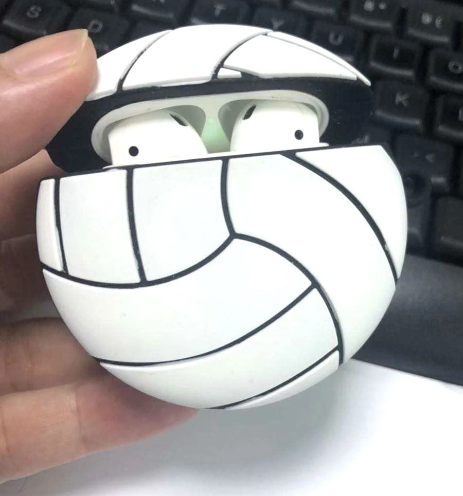 Volleyball Airpod Case- Open
