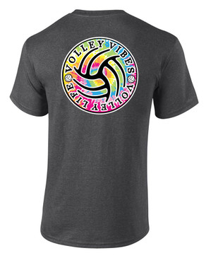 Tie Dye VB Vibes- Dark Heather