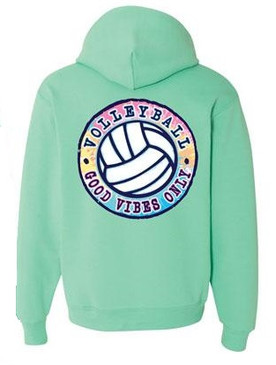 Good Vibes Only Hoodie-Cool Mint