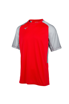Mizuno Men's Aerolite Crew Jersey- Red/Grey