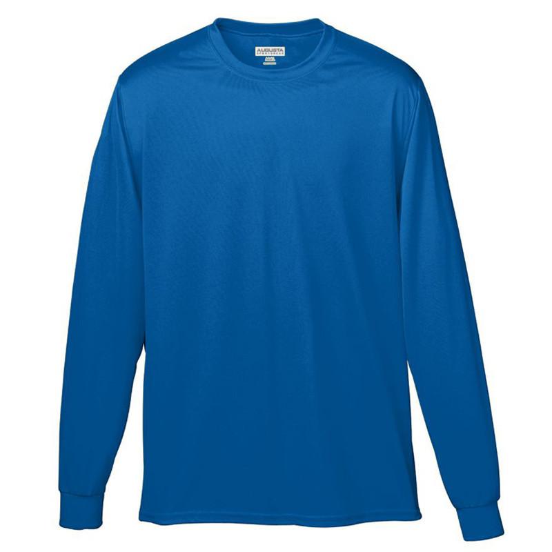 Augusta Men's Wicking Long Sleeve T-Shirt - Royal