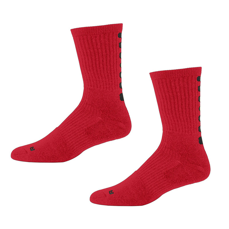 Augusta Color Block Crew Socks - Red